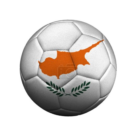 The flag of Cyprus is depicted on a soccer ball