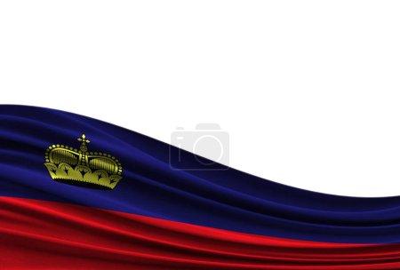 flag of Liechtenstein isolated on white background