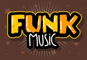 Funk Music Lettering Type Design Vector Image