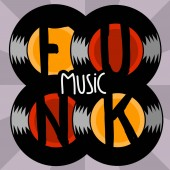 Funk Music Lettering Type Design Vector Image