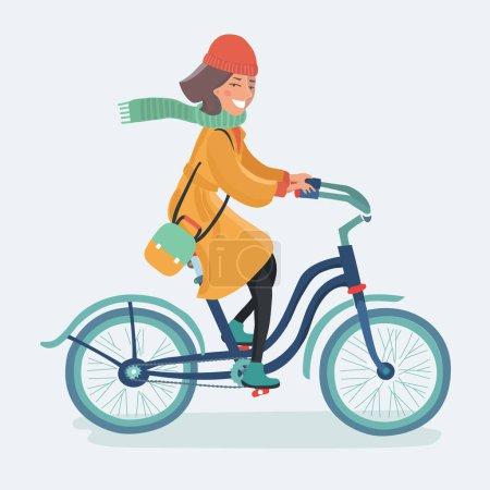 Outdoor-Mode Porträt einer eleganten Dame auf ihrem Hipster-Retro-Fahrrad in Vintage-Maxi-Rock warme Strickjacke und Strohhut. Genießen Sie Glimmer Herbst Herbsttag, posiert auf der Straße mit Birken.