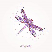 Bright Abstract Dragonfly Bubbles design Beauty