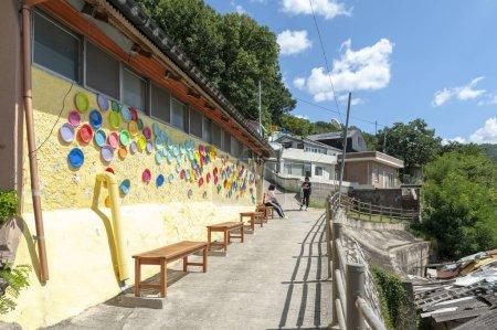 Jeonju, South Korea - September 2018: Colourful pa...
