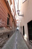 narrow street in the old city in Israel