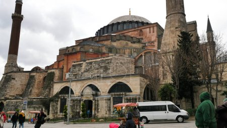 Istanbul, Türkei - 8. Januar 2020: Hagia Sophia in Istanbul. Türkei.