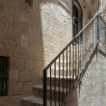 Jerusalem, Israel, June 13, 2020 : Steps with a ra...