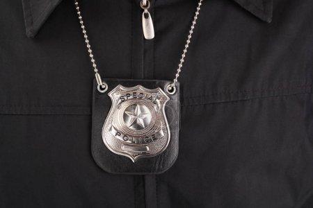 Photo pour Insigne de police argent speacial - image libre de droit