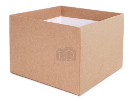Photo for Simple cardboard box on white background - Royalty Free Image