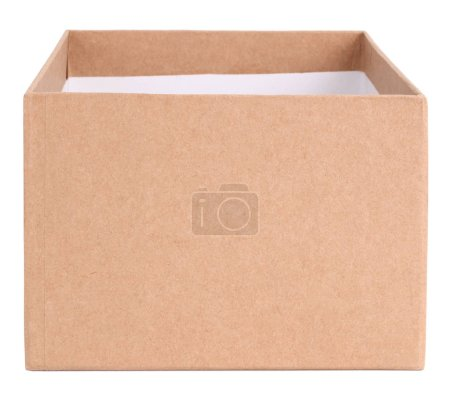 Photo for Simple empty cardboard box - Royalty Free Image