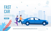 Fast City Transportation Service Webpage Banner