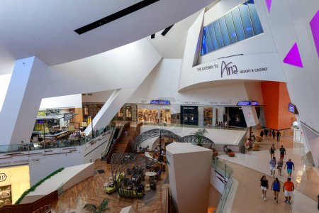 Interior view of Crystals Mall