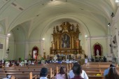 Manila, Philippines - Feb 10, 2018 : Interior view of Catholic churches beside in the Mall of Asia shopping mall of Pasay City, Philippines
