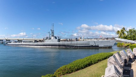 Photo for Oahu, Hawaii - Dec 25, 2018 : View of the Pearl Harbor Historic sites, Honolulu - Royalty Free Image