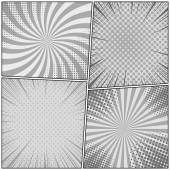 Comic monochrome design composition