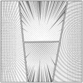 Comic page monochrome design composition