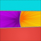 Comic book colorful abstract background
