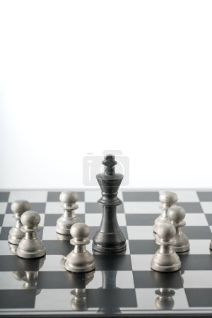Photo pour Concept d'affaires d'échecs, travail d'équipe chef & succès - image libre de droit