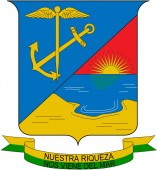 Coat of arms of the city of Buenaventura. Colombia