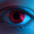 Red Blood Eye. close up. scary. halloween...