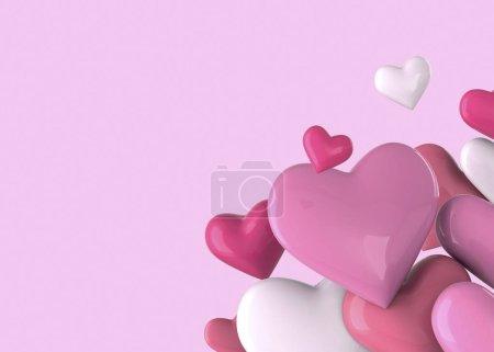 Photo pour Coeurs colorés, fond d'amour - image libre de droit