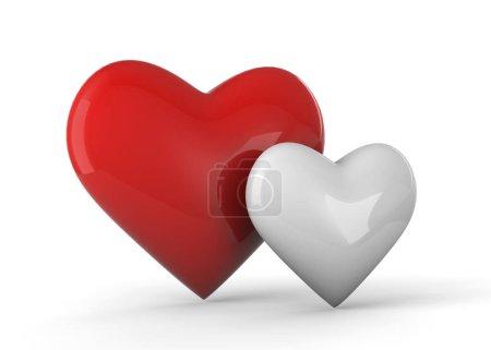 Photo pour Coeurs d'amour Fond, Art 3D - image libre de droit