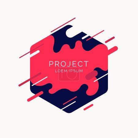 Ilustración de Fondo abstracto con toque dinámico. Ilustración de vector de estilo plano minimalista - Imagen libre de derechos