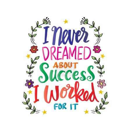 I never dreamed about success i worked for it. Motivational quote by Estee Lauder