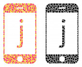 Dot J Phone Mosaic Icons