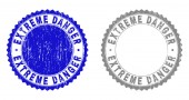 Grunge EXTREME DANGER Textured Watermarks