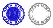 Grunge OPEN MIND Scratched Stamp Seals