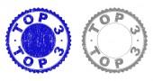 Grunge TOP 3 Scratched Stamp Seals