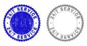 Textured 24-7 SERVICE Scratched Stamp Seals