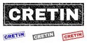 Grunge CRETIN Textured Rectangle Watermarks