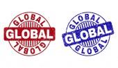 Grunge GLOBAL Textured Round Stamp Seals