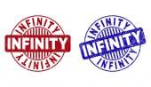 Grunge INFINITY Textured Round Stamps