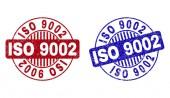 Grunge ISO 9002 Scratched Round Stamp Seals