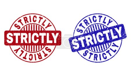 Grunge STRICTLY Scratched Round Stamp