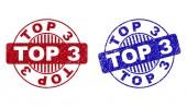 Grunge TOP 3 Scratched Round Watermarks