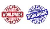 Grunge WORLDWIDE Textured Round Watermarks