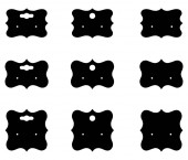Set of blank retro vintage badges and labelseps10