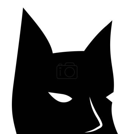 Black mask with sharp ears