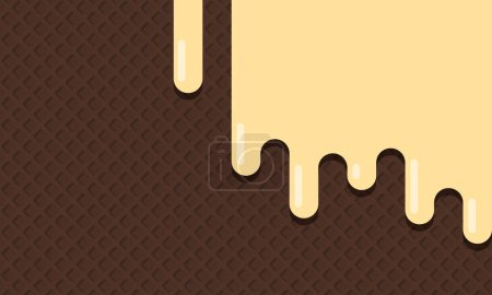 Photo for Sweet ice cream texture background pattern wallpaper.  image - Royalty Free Image