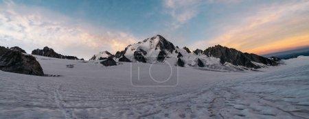 Photo for Glacier du Tour and the alpine mountains, Chamonix-Mont-Blanc,Haute-Savoie, Auvergne-Rhone-Alpes - Royalty Free Image