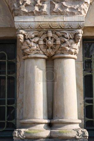 Photo pour Détail des sculptures sur le gothique cathédrale St Etienne à Metz, Moselle, Lorraine, France, Europe - image libre de droit