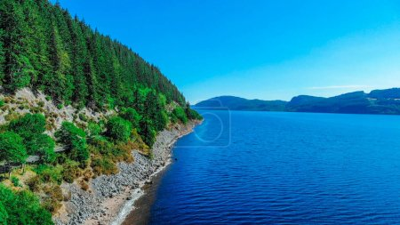Photo for Loch Ness in the Scottish Highlands - the most famous lake in Scotland - aerial view - Royalty Free Image