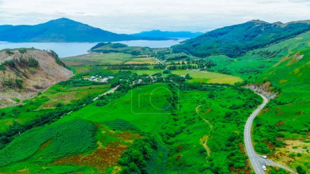 Photo pour Les Highlands incroyable - vue aérienne - image libre de droit