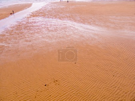 Photo pour Les bancs de sable dans le port de St Ives à marée basse - image libre de droit