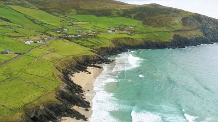 Photo for Aerial view over the beautiful Irish west coast - Royalty Free Image
