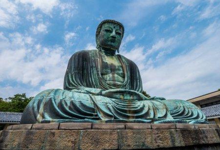 Photo pour Célèbre grand Bouddha de Kamakura Daibutsu Temple - image libre de droit