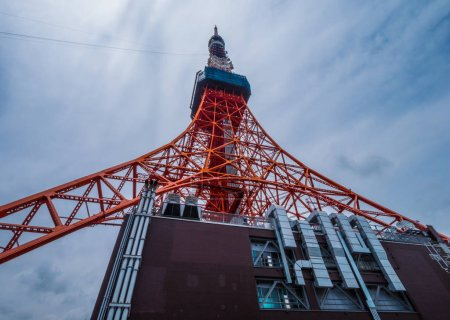 Photo for Tokyo Tower - a famous landmark in the city - Royalty Free Image